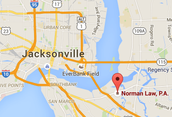 Map to Jacksonville Divorce Law Firm office