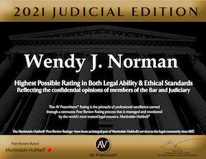 AV Rating award Jacksonville Female Attorney