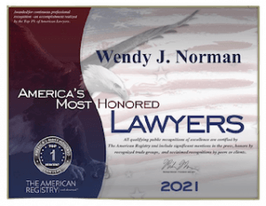 2021 most honored divorce lawyer jacksonville